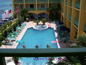 Another view of the pool at Sandals Inn