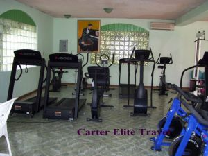Gym area at FDR Resorts