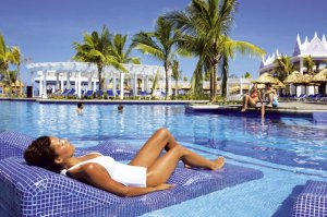Relaxing pool side at RIU Montego Bay