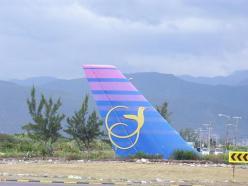 Air Jamaica Airplane Tail near the Kingston Airport