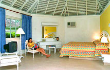 Inside of a cottage at Decameron Club Caribbean