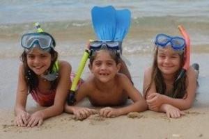 FDR Kids snorkeling at the Resort