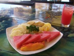 Wonderful Fruit Plate in Jamaica