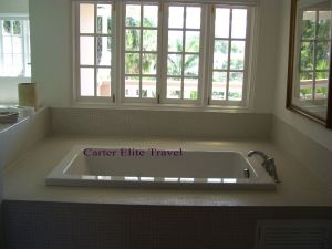Private Bath in the Prime Minister Suite at Couples San Souci