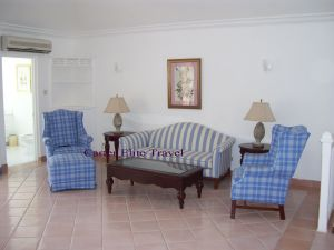 Sitting area in the Prime Minister Suite at Couples San Souci