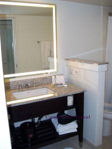 Bathroom in room at Rose Hall Resort
