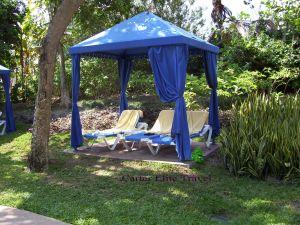 Cozy garden area at Rose Hall Resort