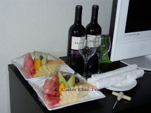 Welcome Fruit Plate and Wine at Rose Hall Resort