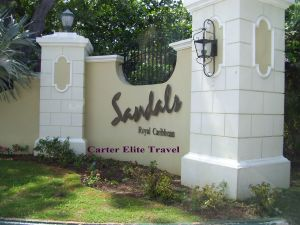 Entrance to Sandals Royal Caribbean