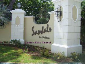 Entrance to Sandals Royal Caribbean