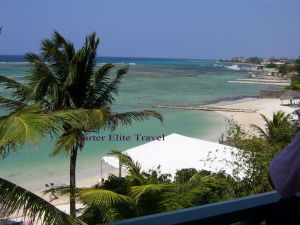 View from the balcony of room 315 at Coyaba Beach Resort