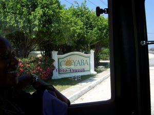 Entrance to Coyaba Beach Resort Jamaica