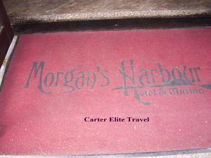 Welcome mat at Morgan's Harbor