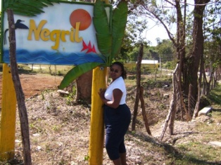 The entrance to Negril, Jamaica