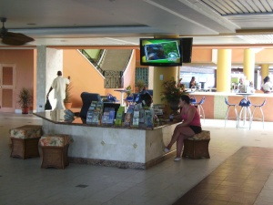 Lobby of the Holiday Inn Sunspree
