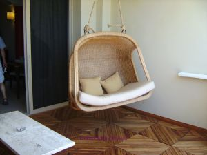 Personal swing on the balcony at Iberostar