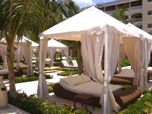 Closer view of the cabanas at Iberostar