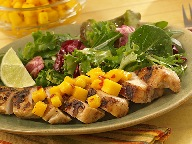 Jerk Chicken with Mango Topper