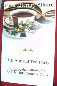Program for the Annual Tea Party